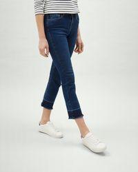 Jaeger Blue Raw Edge Straight Jeans