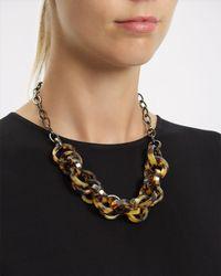 Jaeger - Multicolor Tort Link Necklace - Lyst