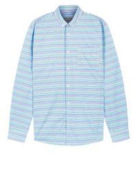 Jaeger - Blue Irregular Horizontal Stripe Shirt for Men - Lyst