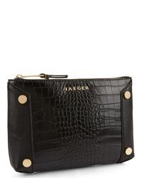Jaeger - Black Ella Button Pouch - Lyst