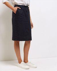 Jaeger | Blue Linen Paper Bag Pencil Skirt | Lyst