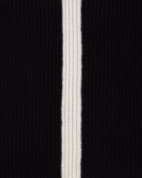 Jaeger Black Wool Striped Snood