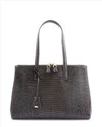Jaeger | Gray Latimer Leather Lizard Tote | Lyst