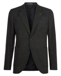Jaeger Multicolor Brushed Cotton Slim Fit Blazer for men