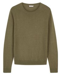 Jaeger - Green Forward And Reverse Side Panel Cotton Jumper for Men - Lyst