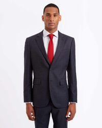Jaeger Black Regular Glen Check Suit for men