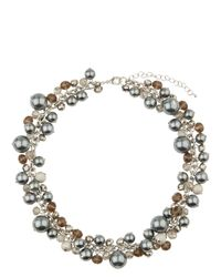 Jaeger - Multicolor Pearl Crystal Cluster Short Necklace - Lyst