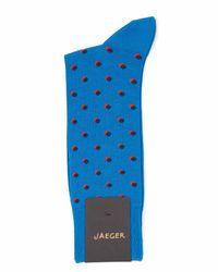 Jaeger - Blue Spot Sock for Men - Lyst