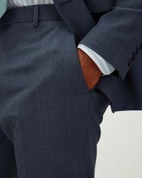 Jaeger - Blue Slim Irregular Tonal Check Trouser for Men - Lyst