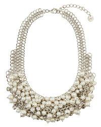 Jaeger - Multicolor Pearl Encrusted Bib Necklace - Lyst