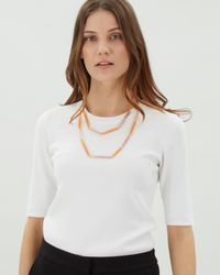 Jaeger - Multicolor Katie Skinny Sparkle Station Necklace - Lyst