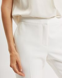 Jaeger White Cropped Stretch Trousers