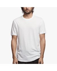 James Perse - White Clear Jersey Crew for Men - Lyst