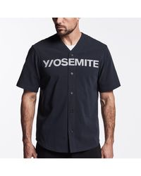 James Perse Blue Y/osemite Graphic Baseball Jersey for men