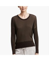 James Perse - Green Glass Cotton Pullover - Lyst