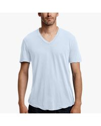 James Perse | White Clear Jersey V-neck for Men | Lyst
