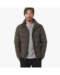 James Perse | Green Yosemite Matte Nylon Puffer Jacket for Men | Lyst