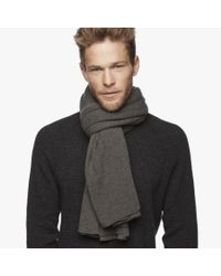 James Perse - Black Lightweight Cashmere Rib Scarf for Men - Lyst