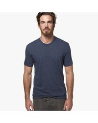 James Perse Blue Melange Jersey Crew for men