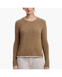 James Perse Brown Cotton Linen Sweater