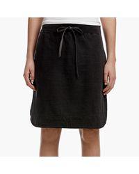 James Perse Black Vintage Jersey Skirt