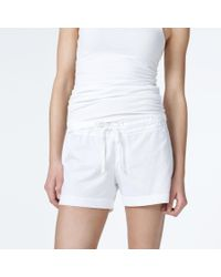James Perse | White Knit Jersey Pajama Short | Lyst