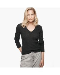 James Perse Black Ribbed Cashmere Sweater