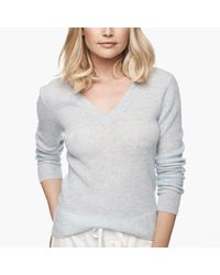 James Perse Gray Ribbed Cashmere Sweater
