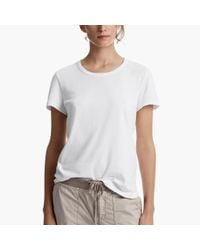 James Perse | White Brushed Cotton Little Boy Tee | Lyst