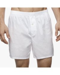 James Perse White Laundered Cotton Boxer for men