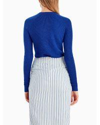 Jason Wu - Blue Merino Silk Crew Button Detail Sweater - Lyst