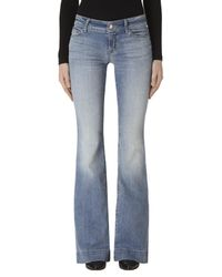 J Brand - Blue Love Story Flare In Adventure - Lyst