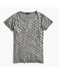 J.Crew - Gray Metallic Stars T-shirt - Lyst