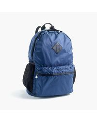 J.Crew Blue Packable Ripstop Backpack for men