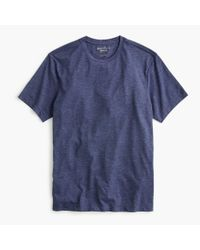 J.Crew Blue Essential Crewneck T-shirt In Heathered Cotton for men