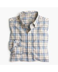 J.Crew - Stretch Secret Wash Shirt In Blue And Grey Plaid for Men - Lyst