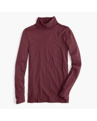 J.Crew Red Tissue Turtleneck T-shirt