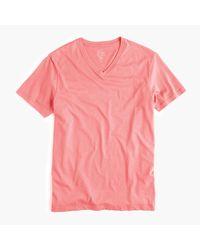 J.Crew | Pink Slim Broken-in V-neck T-shirt for Men | Lyst