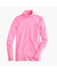 J.Crew | Pink Tissue Turtleneck T-shirt | Lyst
