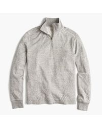 J.Crew Gray Tall Double-knit Half-zip Pullover for men
