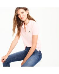 J.Crew   Pink Lacoste Polo Shirt for Men   Lyst