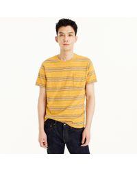 J.Crew Tall Short-sleeve Slub Cotton T-shirt In Yellow Stripe for men