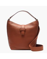 J.Crew - Brown Signet Hobo Bag In Italian Leather - Lyst