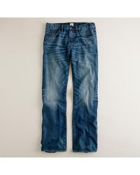 J.Crew - Blue Bootcut Jean In Vintage Worn Wash for Men - Lyst