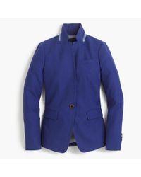 J.Crew Blue Regent Blazer In Linen