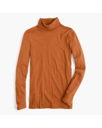 J.Crew Orange Tissue Turtleneck T-shirt