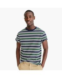J.Crew Blue Striped Cotton-jersey T-shirt for men