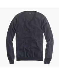 J.Crew Black Slim Merino Wool V-neck Sweater for men