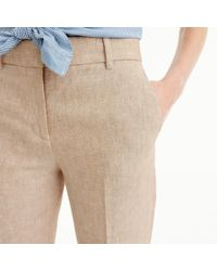 J.Crew Natural Rhodes Pant In Herringbone Linen