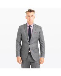 J.Crew | Gray Ludlow Suit Jacket In Heathered Italian Wool Flannel for Men | Lyst